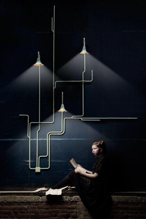 <3<3<3 bellissime le lampade con gli impianti a vista