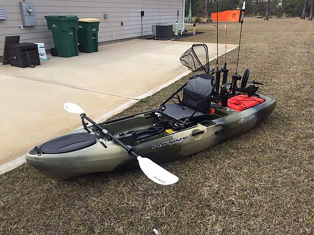 10 native slayer propel fishing setup kayak fishing for Fishing canoe setup