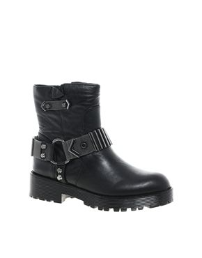 KG by Kurt Geiger Take Leather Buckle Ankle Boots 167E (asos)