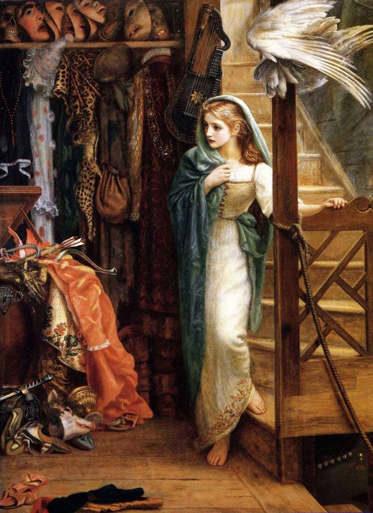 'The Property Room' by Arthur Hughes, 1879