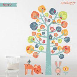 vinilos infantiles arbol dulce