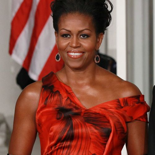 Michelle Obama Bikini | First Lady Michelle Obama in Alexander McQueen at the 2011 state ...