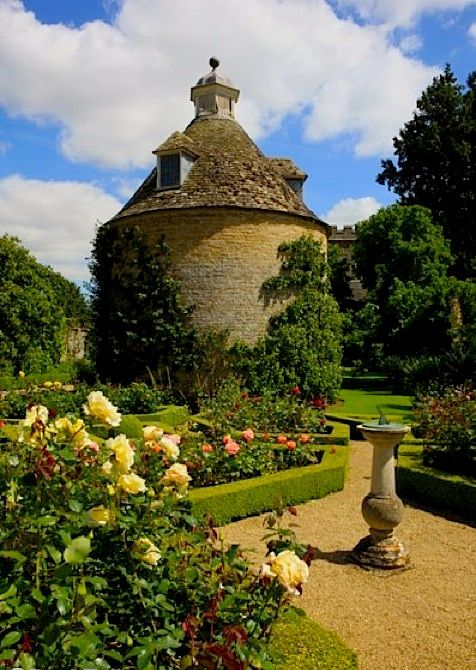 The Dovecote in the Pigeon House Garden at Rousham House Park. Bicester, Oxfordshire, England.