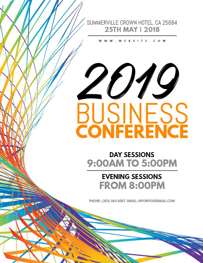 Business Conference Corporate Event Flyer Poster Banner