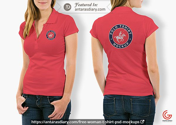 Download 60 Free Woman T Shirt And Apparel Psd Mockups In 2020 Polo Shirt Women Shirt Mockup T Shirts For Women