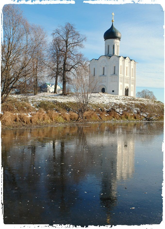 The Church of the Intercession of the Holy Virgin on the Nerl River. Vladimir, Russia. #poetry #freeimages #freepictures #freephotos #haiku #church #orthodox #winter #russia #vladimir #river