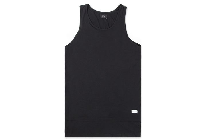Stampd Blank Double Layered Tank - Black