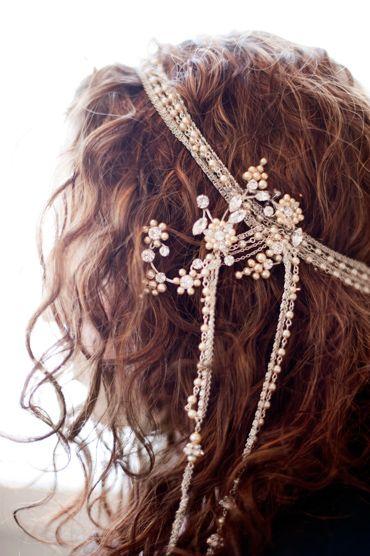 bohemian glam #wedding headdress