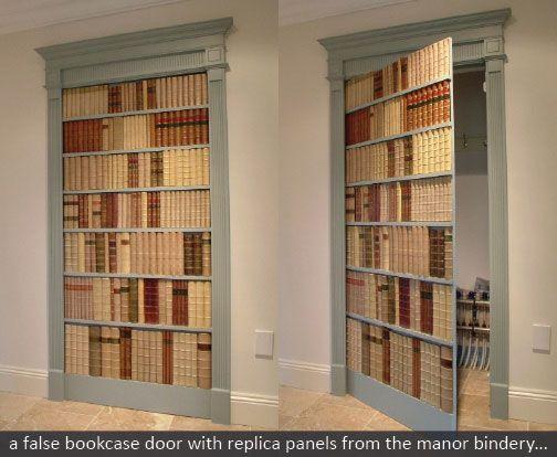 Replica Book Panels False Books At The Manor Bindery   I Want A Secret Book  Door!