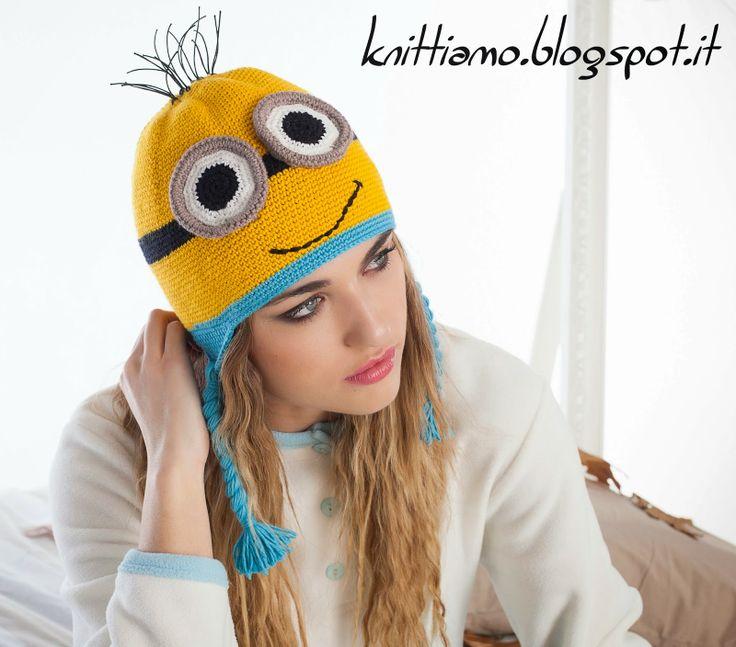 cappello minion tutorial fotografico con spiegazioni