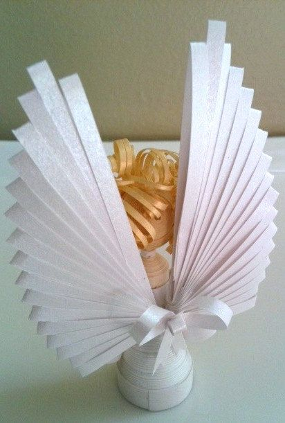 Christmas Angel Ornament Paper Quilled in by WintergreenDesign