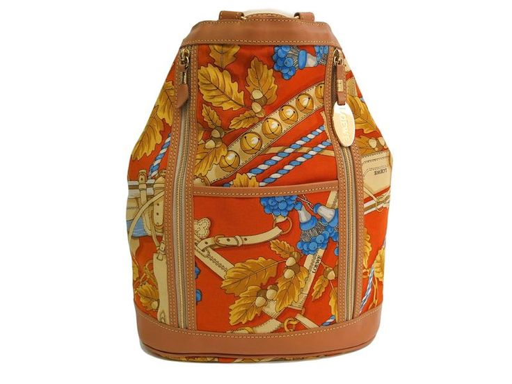 #LOEWE Backpack Canvas/Leather Yellow/Brown/Multi Color (BF101985): All of #eLADY's items are inspected carefully by expert authenticators who have years of experience. For more pre-owned luxury brand items, visit http://global.elady.com