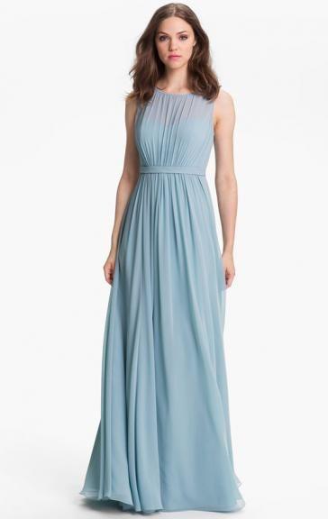 Sale Chiffon Blue Bridesmaid Dress BNNBE0019-Bridesmaid UK