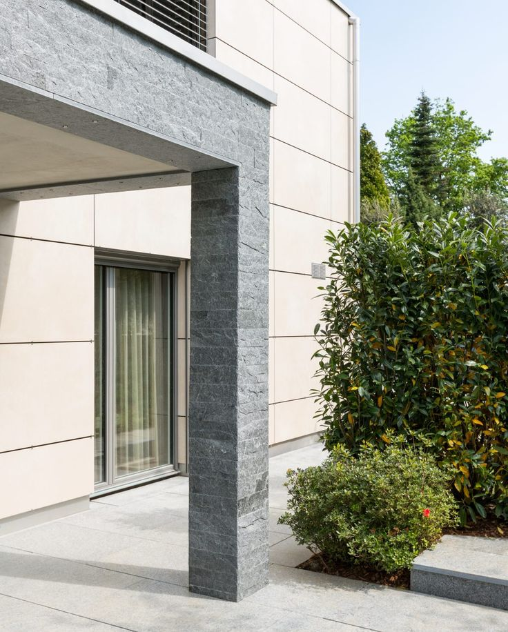 Fassadengestaltung stein  9 besten Fassade Bilder auf Pinterest | Wohnen, Einfamilienhaus ...