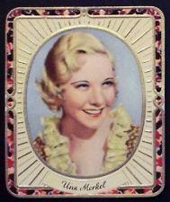 Una Merkel 1936 Garbaty Passion Film Star Embossed Cigarette Card #154