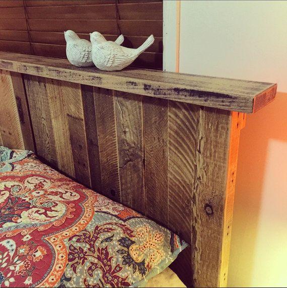 Reina tamaño sólida plataforma rústica cama por PalletLifeAustralia