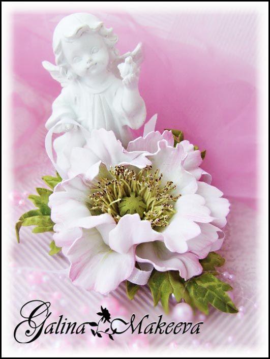 Розовый мак из фоамирана http://vk.com/club100531898