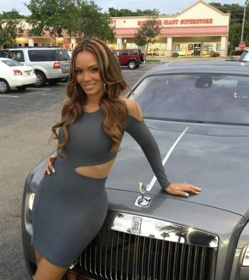Evelyn Lozada's Blue Boulee Cut-Out Dress at Magic City | Reality TV Fashion &