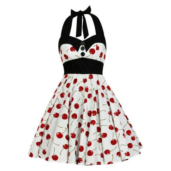 Cherry Dress Pinup Dress Rockabilly Dress by LadyMayraClothing