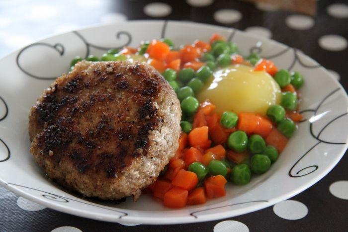 Karbonader med grønærter