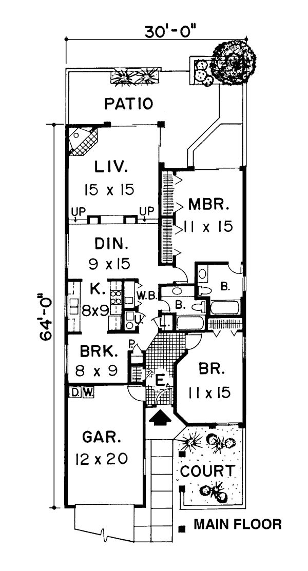 The 25 best narrow house plans ideas on pinterest for Narrow craftsman house plans