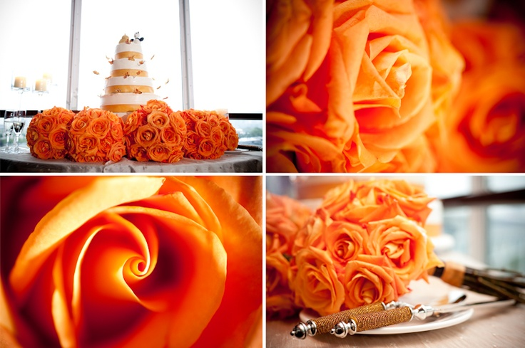 Atlantis Pavilions vibrant orange wedding theme