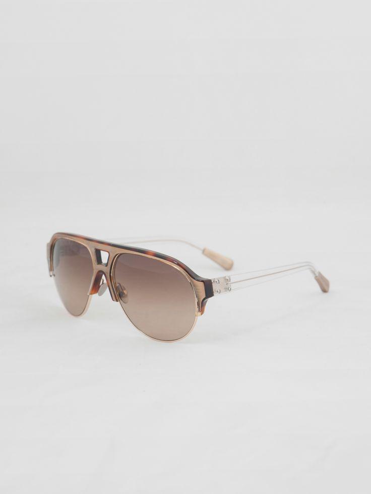 LINDA FARROW , Aviator Güneş Gözlüğü #shopigo#shopigono17#accessories#womenswear#menswear#fashion#sunglasses#style#colourful