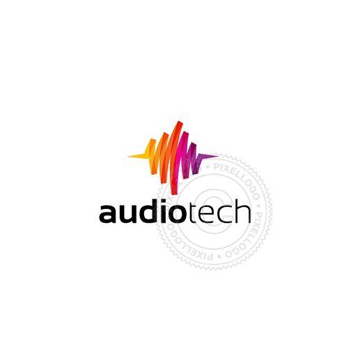 Audio technology Logo - pixellogo