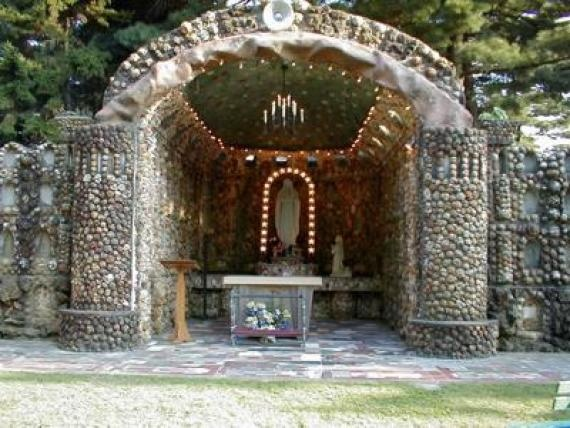 Grotto built with Indiana geodes. In my city.  Many more rock formations in this park.