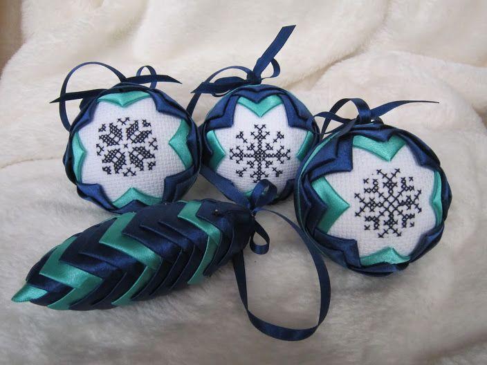 Bombki Karczoch z haftem - Alicja Kalwarczyk