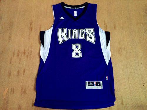 NBA Sacramento Kings #8 Rudy Gay Revolution 30 Swingman New Purple Jersey