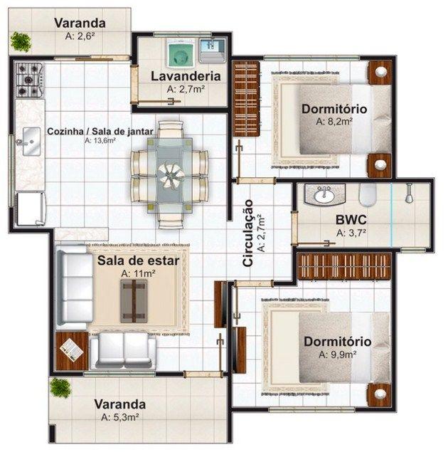 Planos de viviendas con medidas