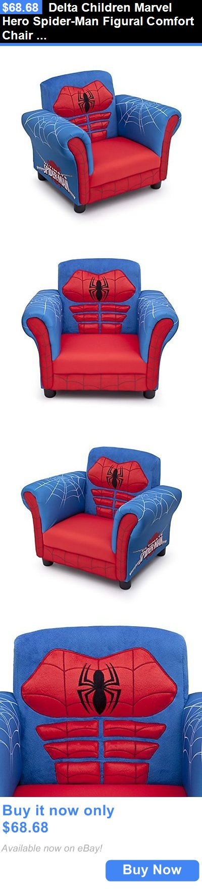 Kids Furniture: Delta Children Marvel Hero Spider-Man Figural Comfort Chair Bedroom Furniture BUY IT NOW ONLY: $68.68