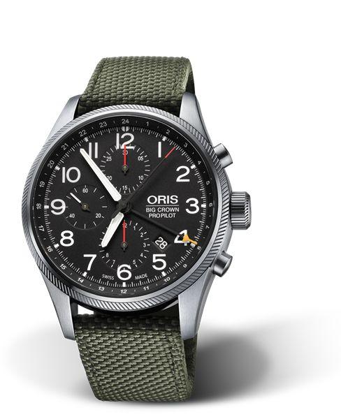 01 677 7699 4164-07 5 22 14FC - Oris Big Crown ProPilot Chronograph GMT - Oris Big Crown ProPilot - Aviatik - Kollektion - Oris - Rein mechanische Schweizer Uhren.