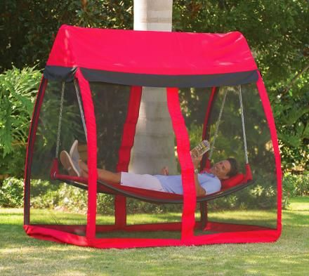Hammock With Mosquito Net..so want. especially w/these crazy mosquitos we got goin' on :/