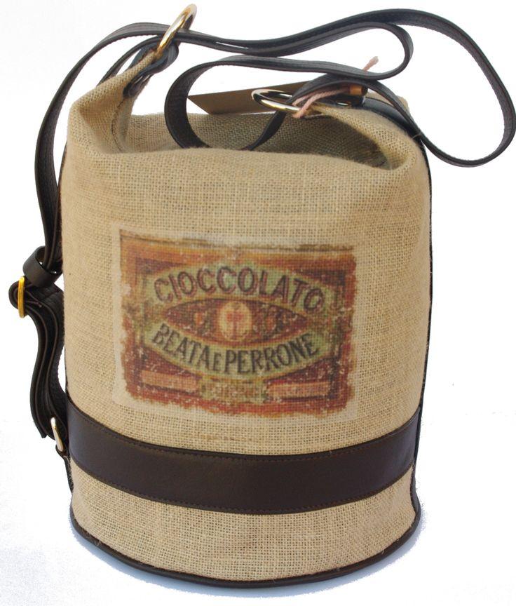 Parvares...bag! chocolate bag  #sack #bag #madeinitaly #fashion #woman #cioccolata #print #woman #natural