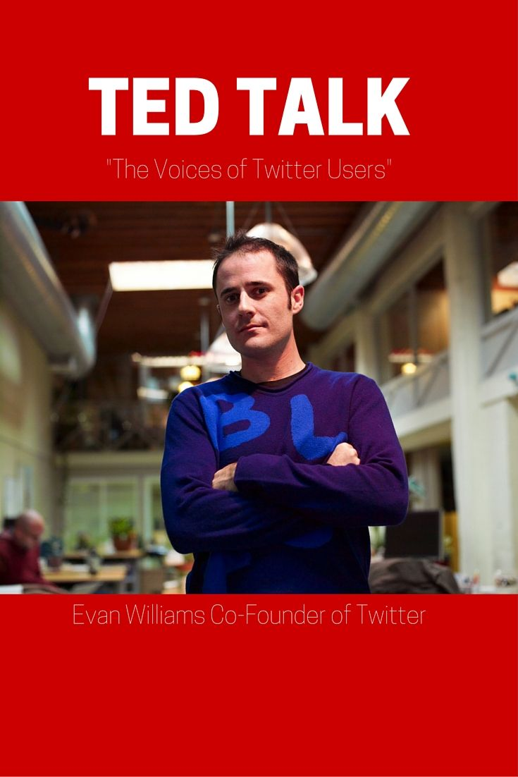 Co-founder of Twitter Evan Williams discusses how Twitter users contributed to the growth of the social media outlet.