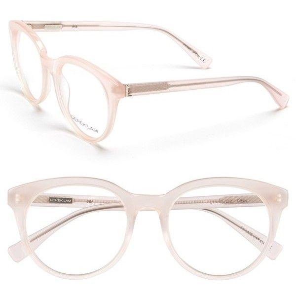 Derek Lam 51mm Optical Glasses featuring polyvore, fashion, accessories, eyewear, eyeglasses, pink, pink glasses, pink eyeglasses, round eye glasses, acetate glasses and round glasses