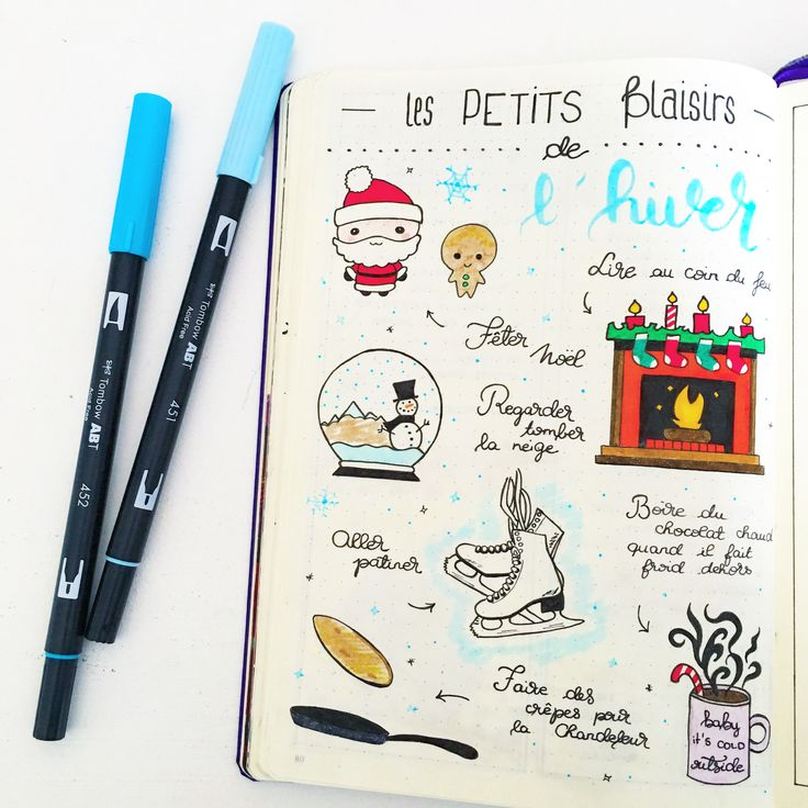 Bullet Journal - Winter's pleasures ✒ [ Insta @lafilleaucarnet ]