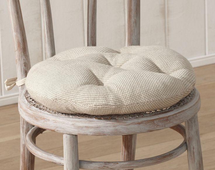 Galette de chaise ronde matelassée
