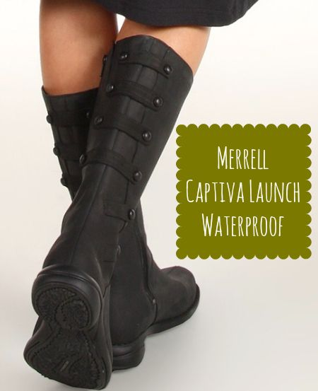 Such cute Merrell boots, and they're waterproof and super comfy.