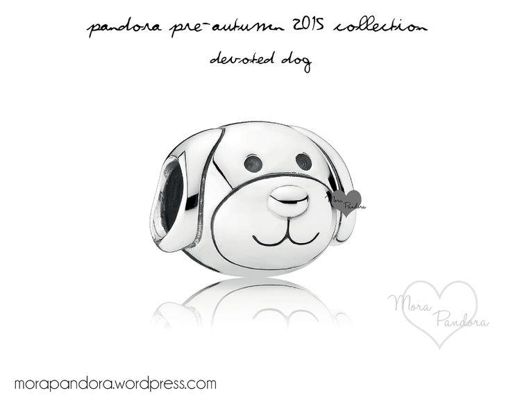 Pandora Dog Charm With Circle Around Eye