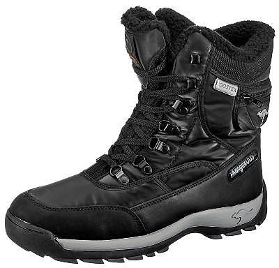 Perfekt für weiße Wintertage und lange Spaziergänge ist dieser Winterstiefel von KANGAROOS.  Diese KANGAROOS Stiefel haben folgende Besonderheiten:  - robustes Modell mit komfortabler Ösenschnürung - hohe Gummisohle und mit Veloursleder abgesetzter Schuh bieten   perfekten Schutz - KANGAROOS Secret-Pocket mit Reißverschluss am Schaft - warm gefüttert - ROOSTEX Ausstattung  - wasserdicht - windd...