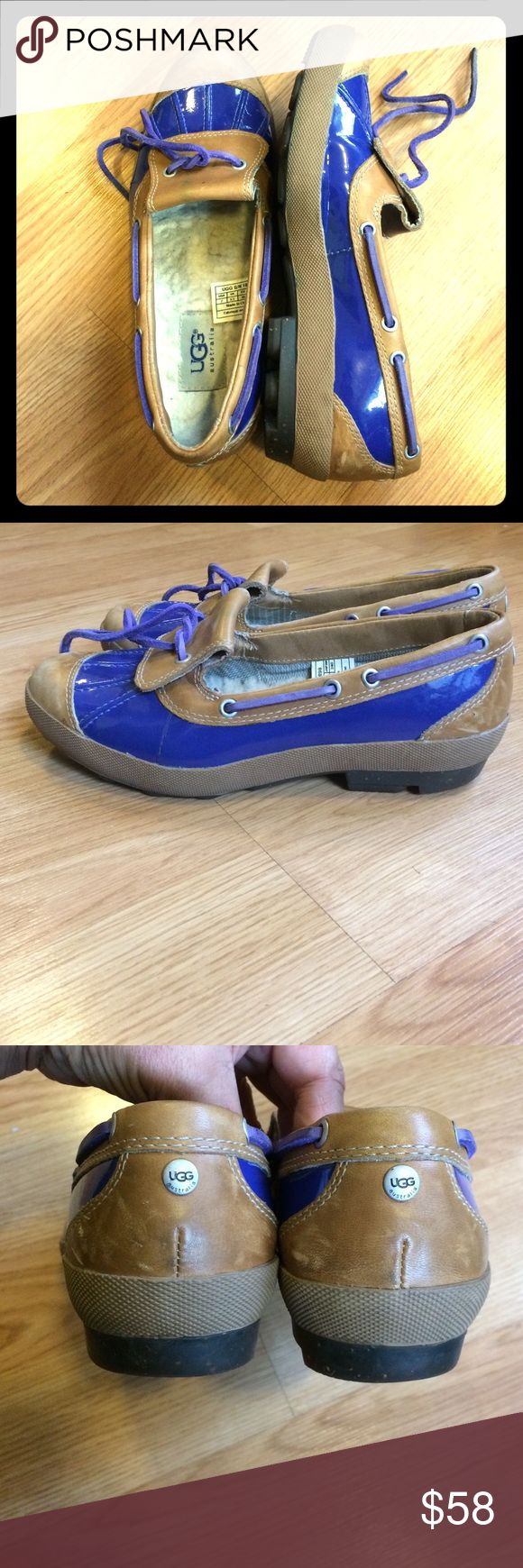Uggs Australia skimmer shoes Uggs Australia woman's skimmer shoe great condition ! Blue and tan , open to offers ! :) UGG Shoes Flats & Loafers