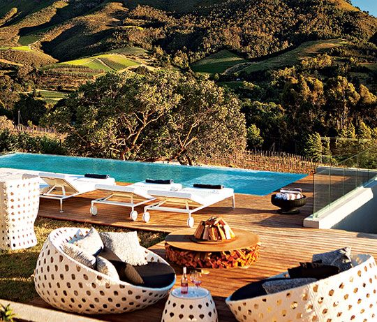Spend your honeymoon relaxing by the pool in these beautiful pod chairs. #Cloudsestate #Stellenbosch http://cloudsestate.com/home-26.html