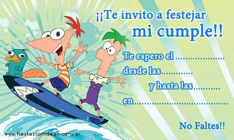 Frases de cumpleaños. Imágenes de cumpleaños de Phineas y Ferb