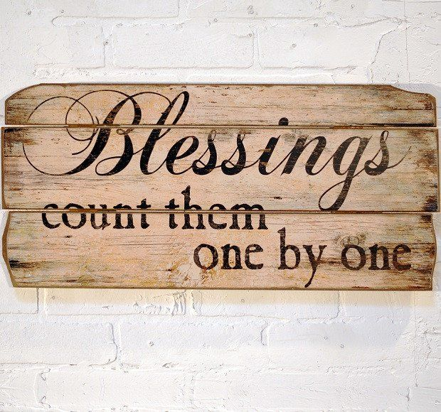 Wood Blessings Wall Decor | Rustic Wall Decor