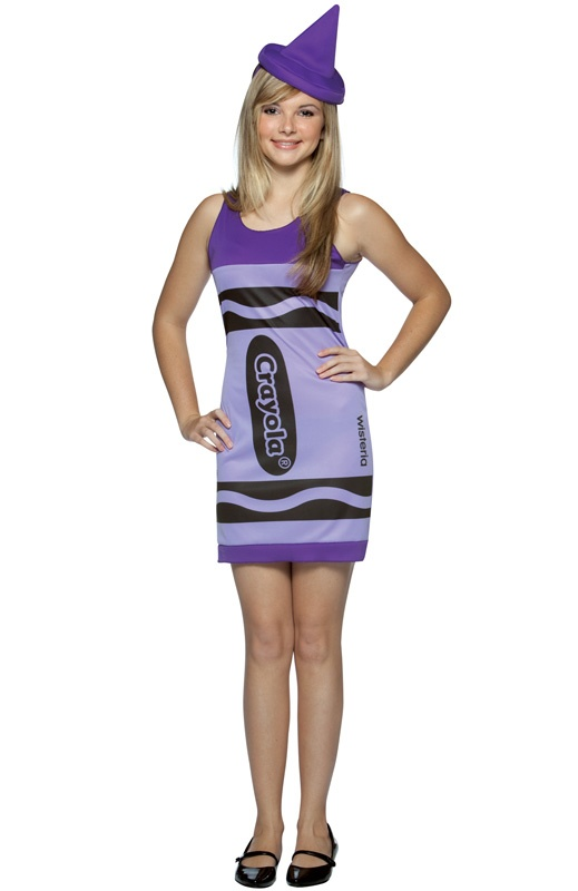 purple crayon costume buy halloween costumesteen - Fun Teenage Halloween Costumes