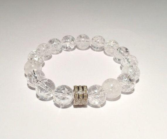 Quartz, DIAMOND bracelet, Diamond, quartz bracelet, Diamond with natural quartz bracelet, FREE SHIPPING