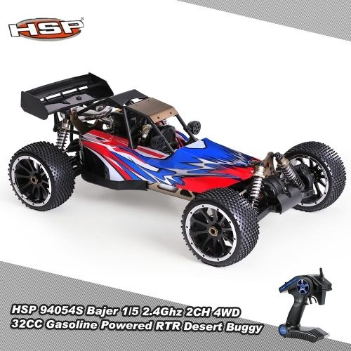 649.99$  Buy here  - Original HSP 94054S Bajer 1/5 2.4Ghz 2CH 4WD 32CC Gasoline Powered Desert Buggy RTR Remote Control Car